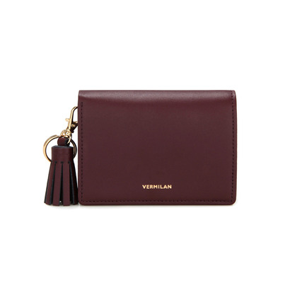 Flap Wallet - burgundy