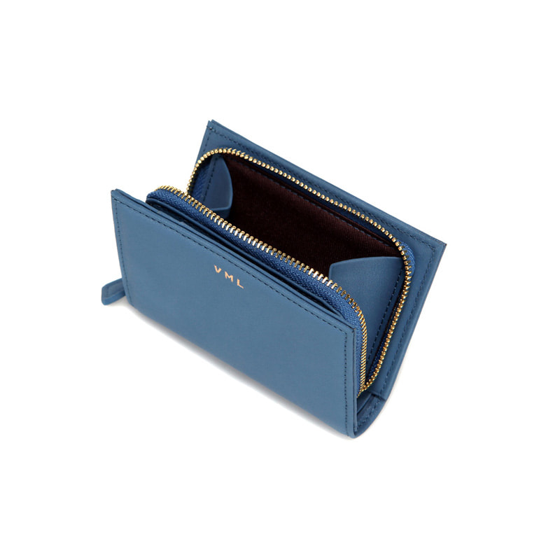 TONA ZIPPER WALLET - BLUE