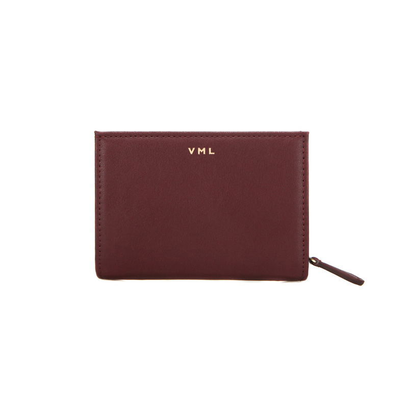 TONA ZIPPER WALLET - WINE